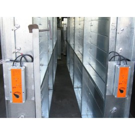 Motorised Volume Control Dampers, multi section with actuators